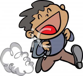 Running excited to go. Back clipart back boy