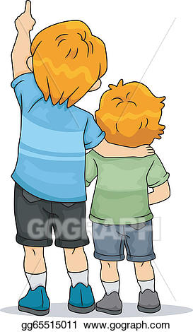 Eps vector view of. Back clipart back boy