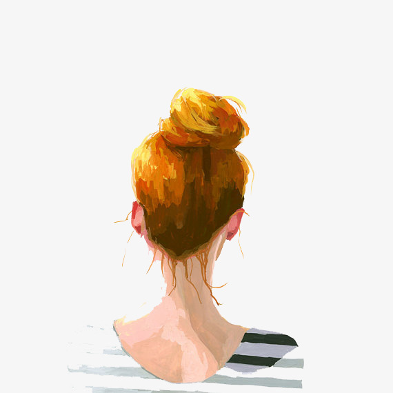 Watercolor png image and. Back clipart back girl