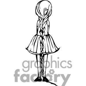 Back clipart back girl. Clip art of view