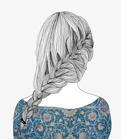 Hair png image and. Back clipart back girl