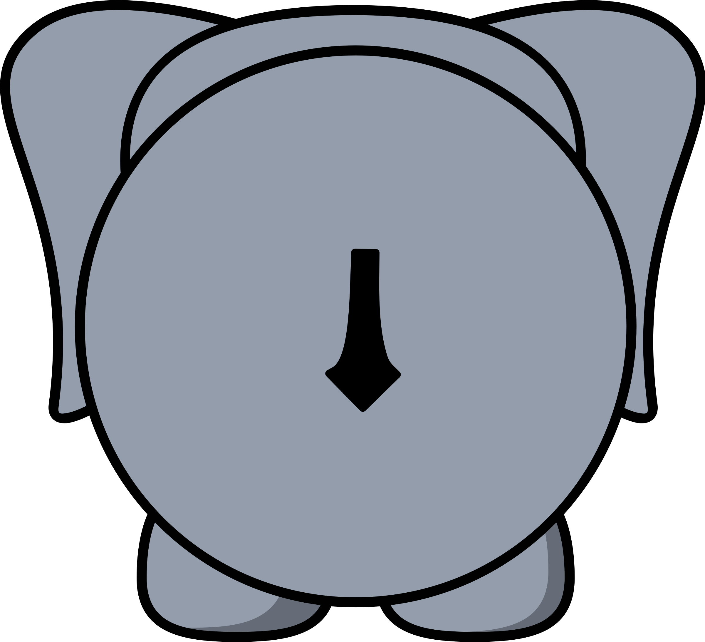 Elephant icons png free. Back clipart back side