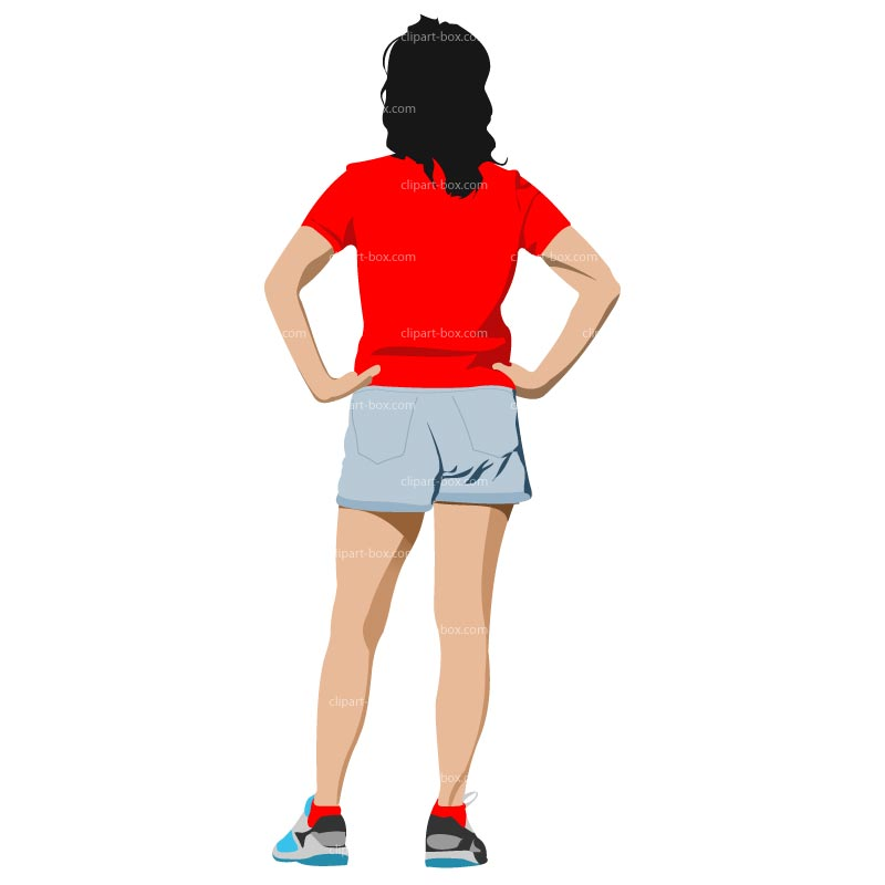 Cliparts people zone . Back clipart back side