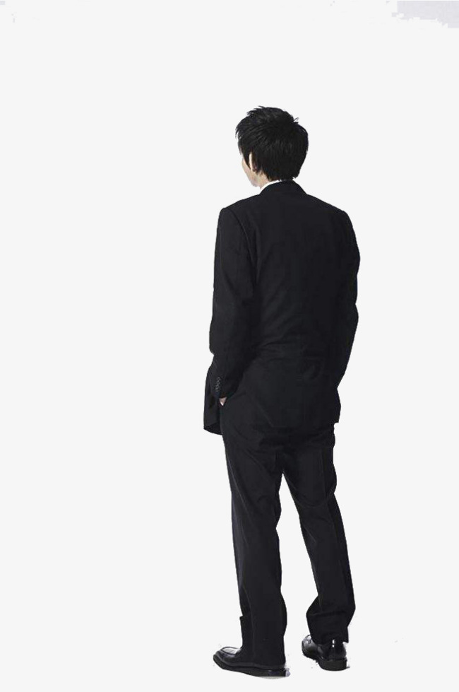 Man of the business. Back clipart back side