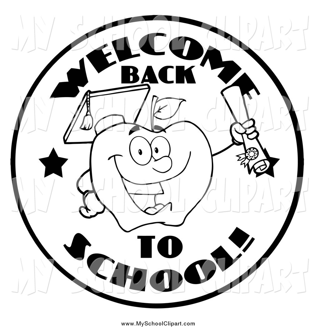 Back clipart black and white. Welcome letters clip art