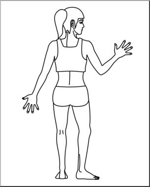 Back clipart body back. Clip art human view