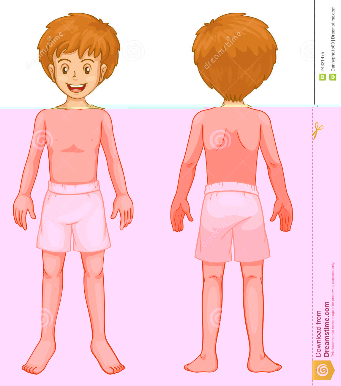 . Back clipart body part