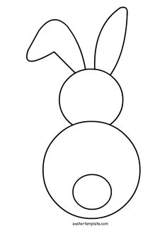 Back clipart bunny. Template rather than worry