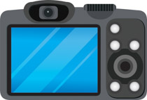 Camera clipart digital camera. Free clip art pictures