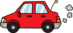 Back clipart car. Free cartoon image truck