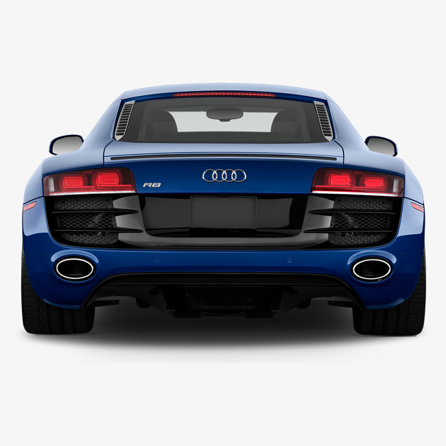 The trunk audi r. Back clipart car