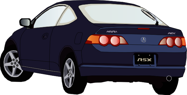 back clipart car