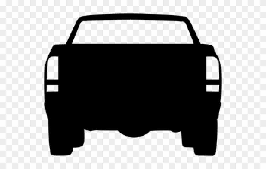 Rear silhouette view png. Back clipart car