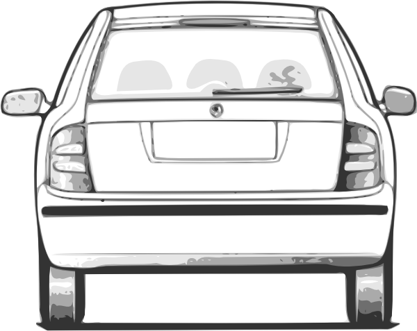 Back clipart car. Of