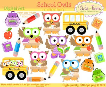 Back clipart clip art. To school owls bus