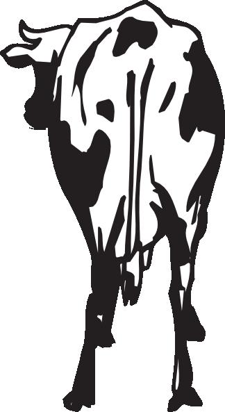 Rear view clip art. Back clipart cow