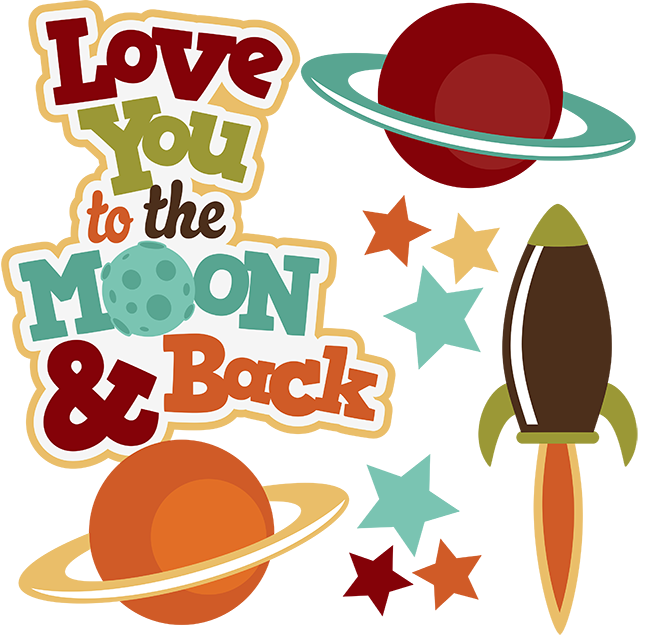Love you to the. Clipart moon cute