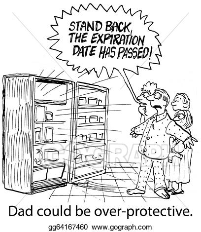 Back clipart dad. Stock illustration over protective