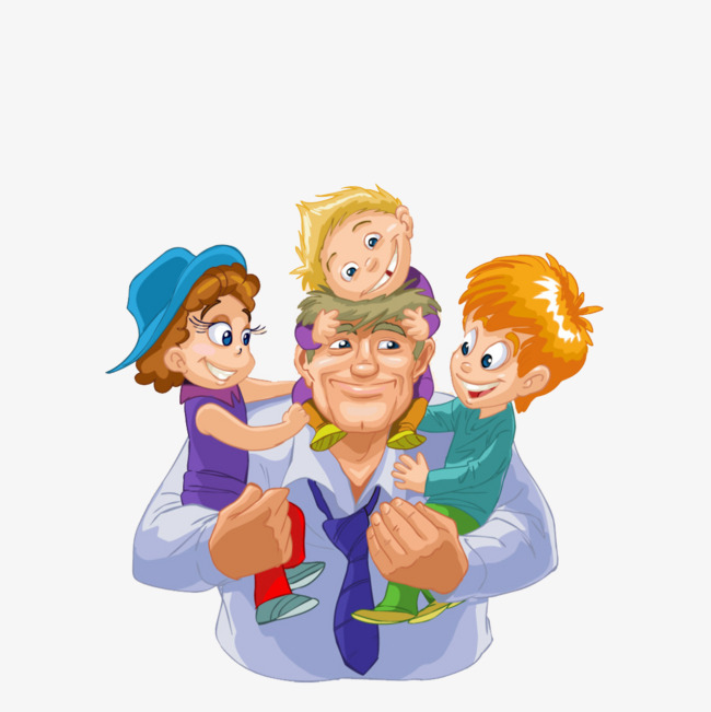 Back clipart dad. Painted children material father