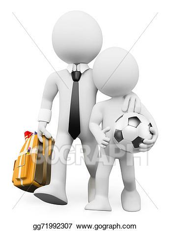 Stock illustration d white. Back clipart dad