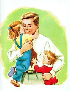 Family Hugging Clipart - Dad Coming Home Cartoon, HD Png Download - vhv