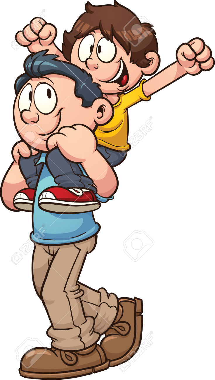 Walking cliparts free download. Dad clipart father and son