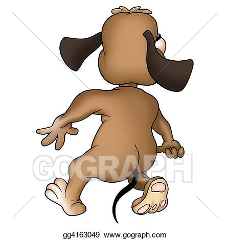 Back clipart dog. From the stock illustration