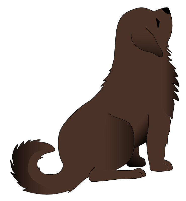 collection of high. Back clipart dog