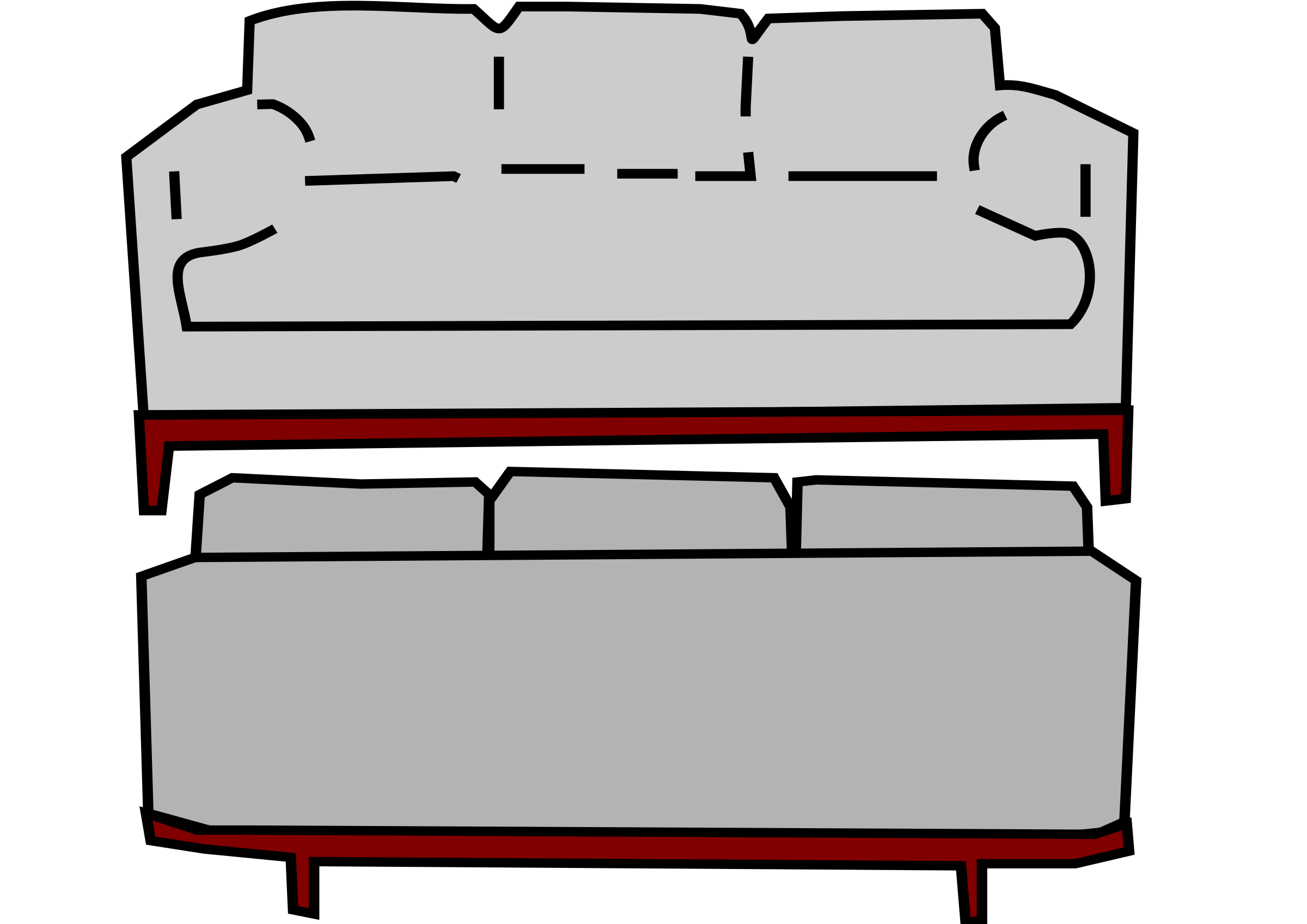 Gray sofa and big. Back clipart front back