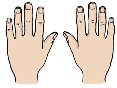 collection of ten. Back clipart hand