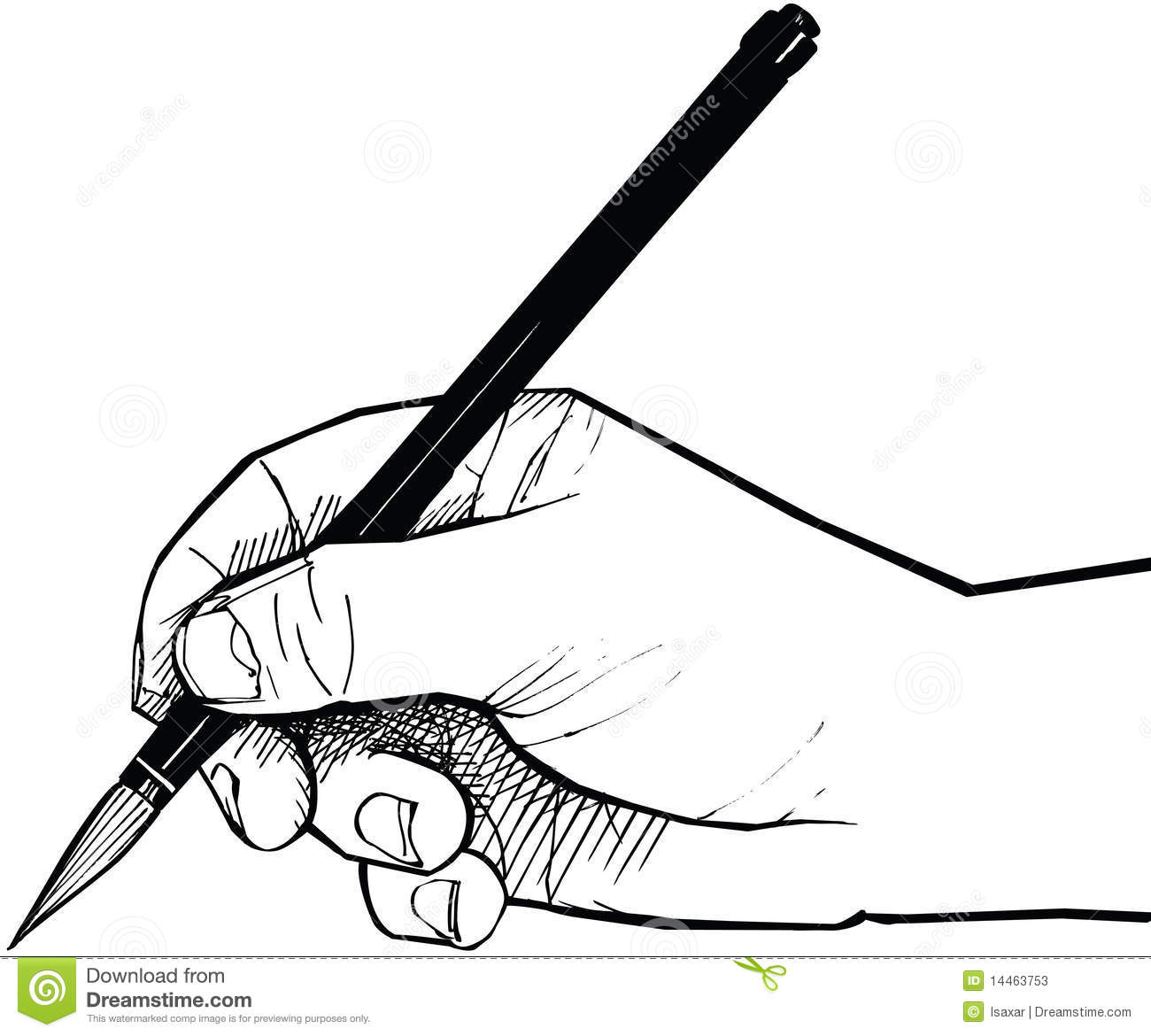 Drawing . Back clipart hand