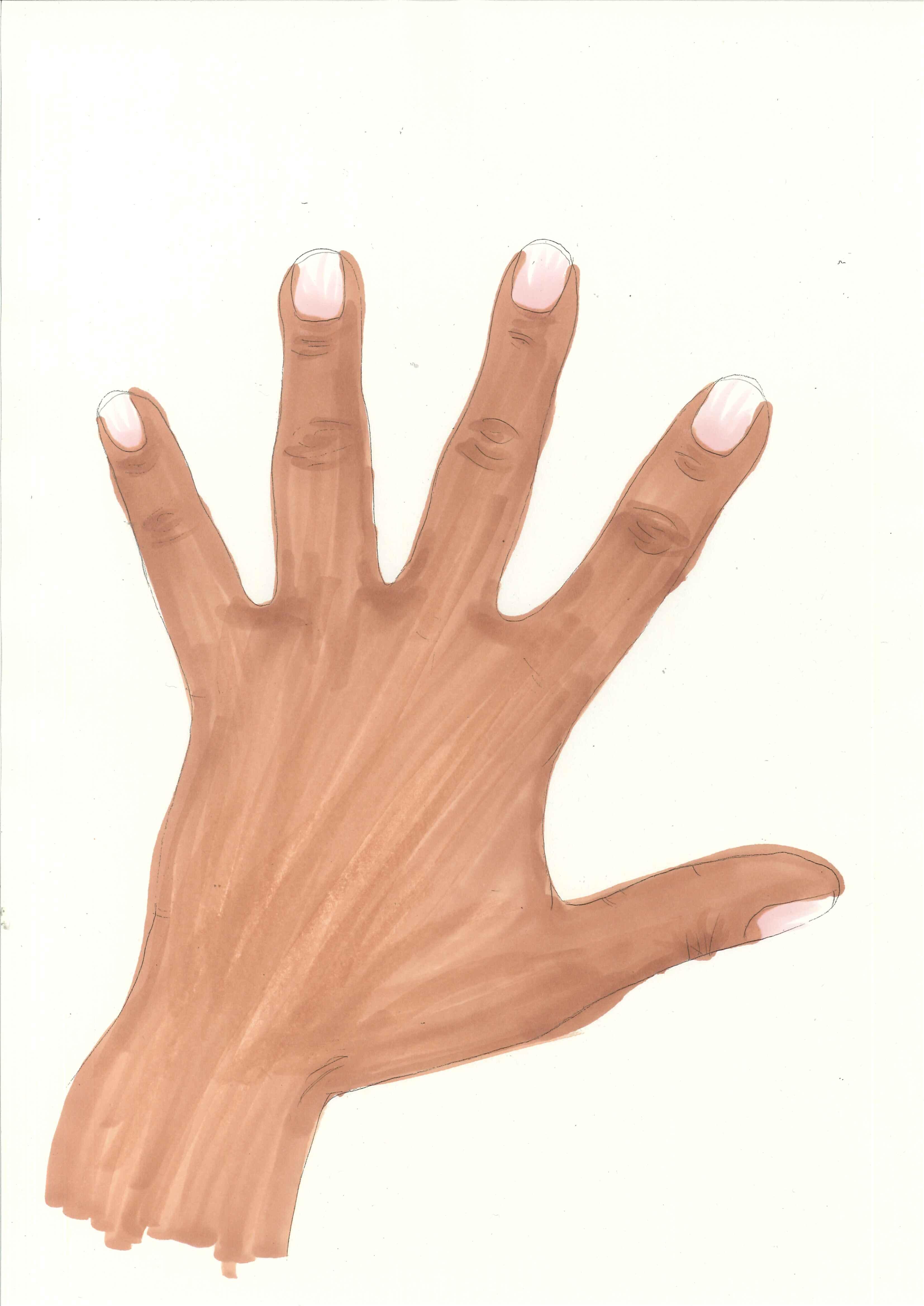 Back clipart hand. Darker ajet handdarker
