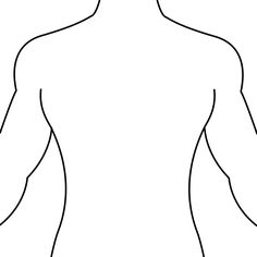 Blank body template for. Back clipart human back