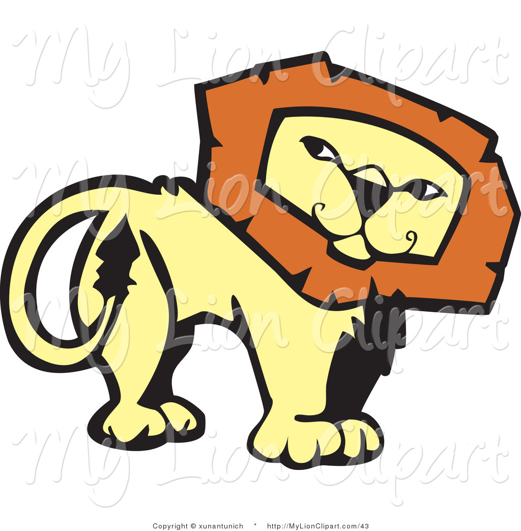 Back clipart lion. Of a confident looking