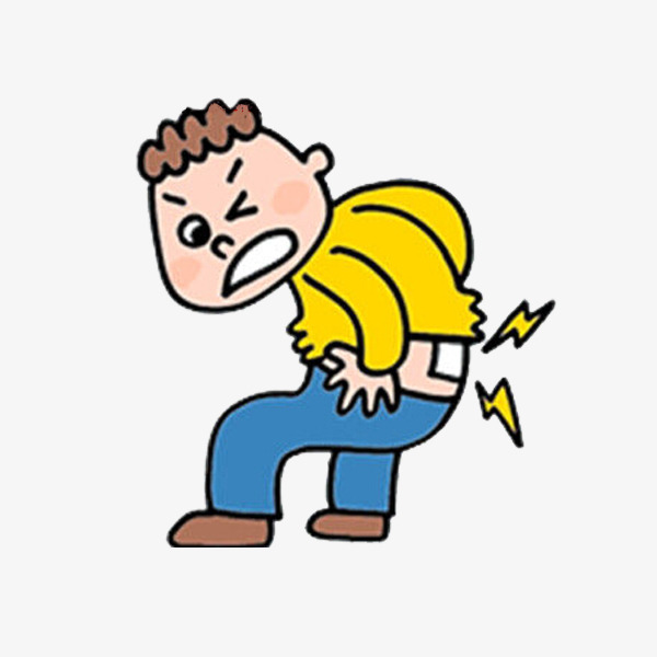 Back clipart low back pain. A man with cartoon
