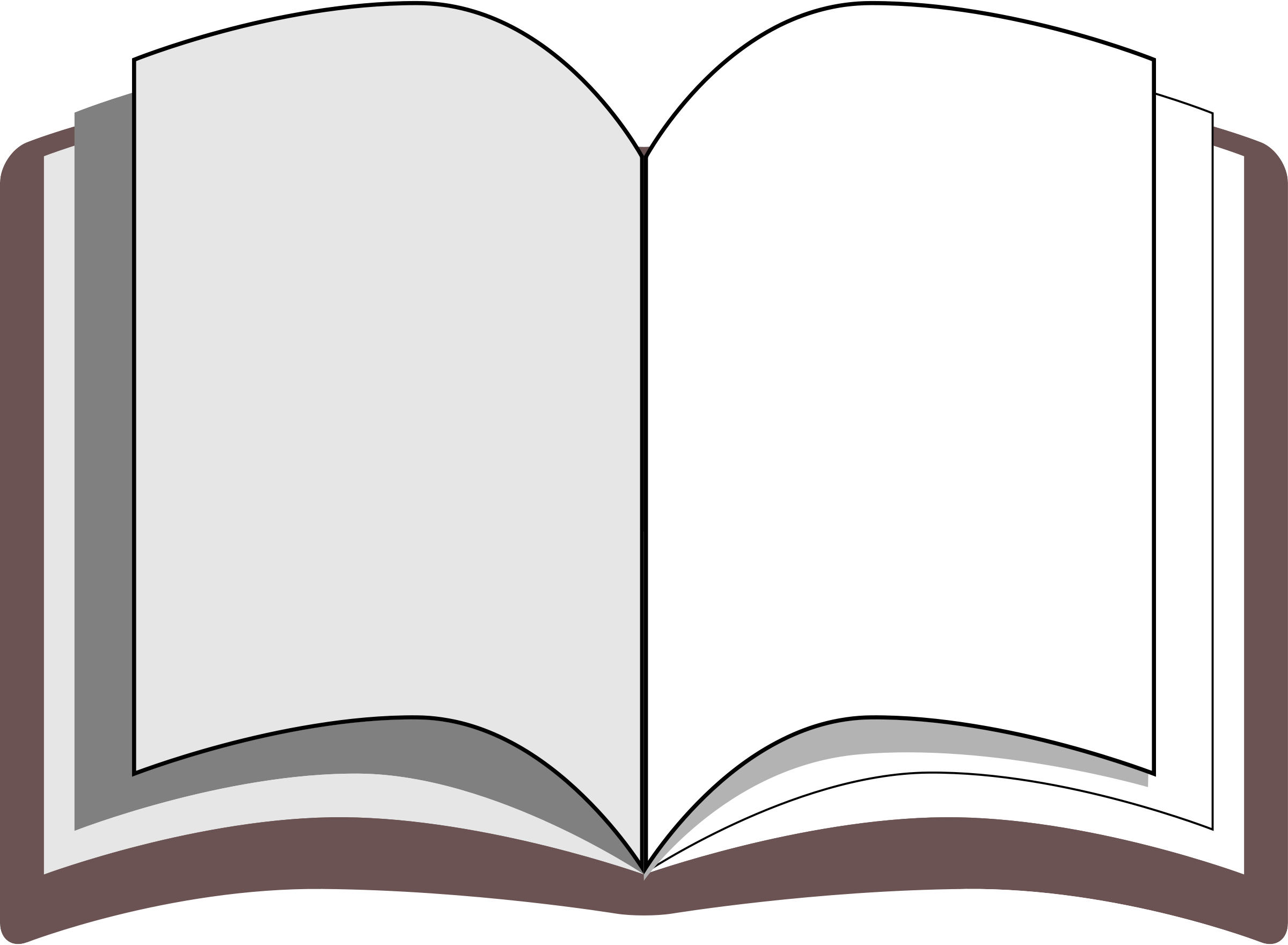 Free picture of open. Books clipart simple