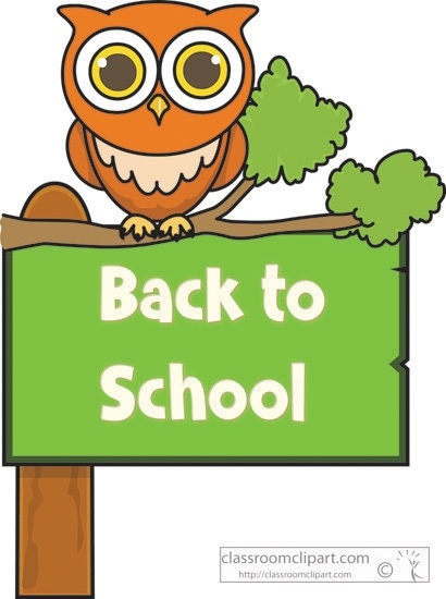 Back clipart owl. School to sign classroom