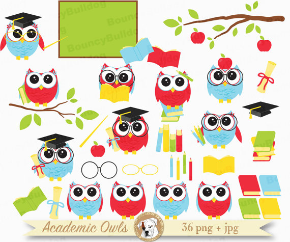 Graduation owls to school. Back clipart owl