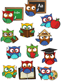 To school owls by. Back clipart owl