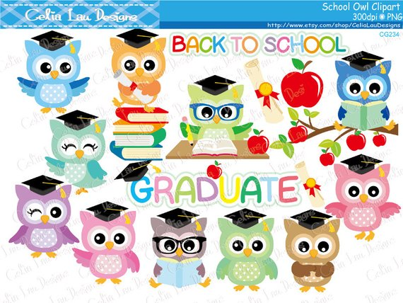 Back clipart owl. School owls graduation to