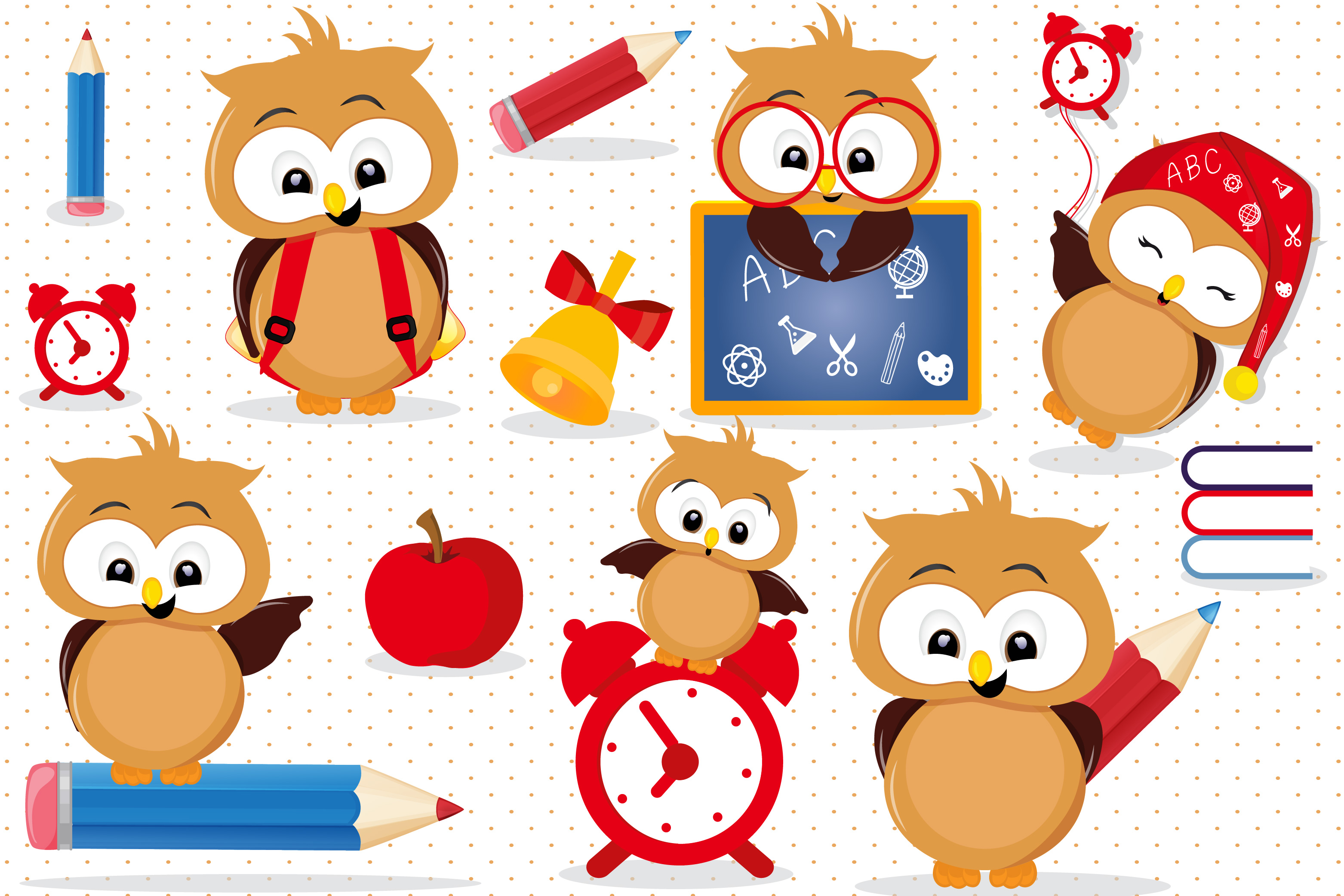 Back to graphics . Owls clipart school