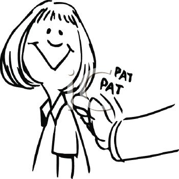 Back clipart pat. There a on the