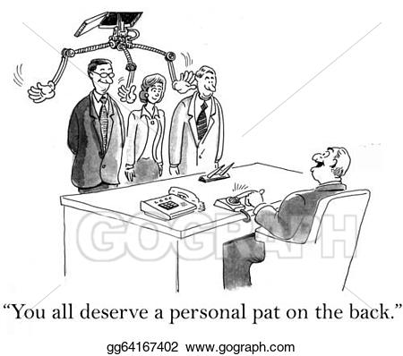 Back clipart pat. Stock illustration a personal
