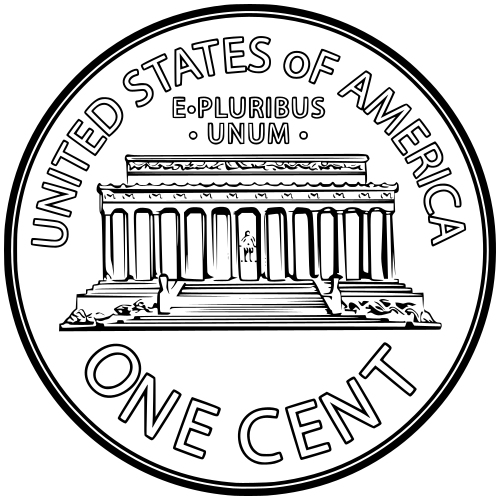 Back clipart penny. Money us currency coins
