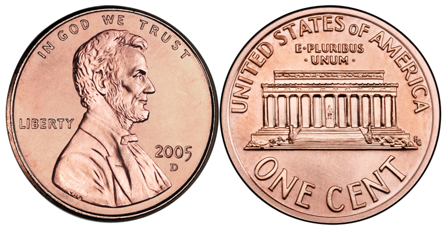 Front and png transparent. Back clipart penny