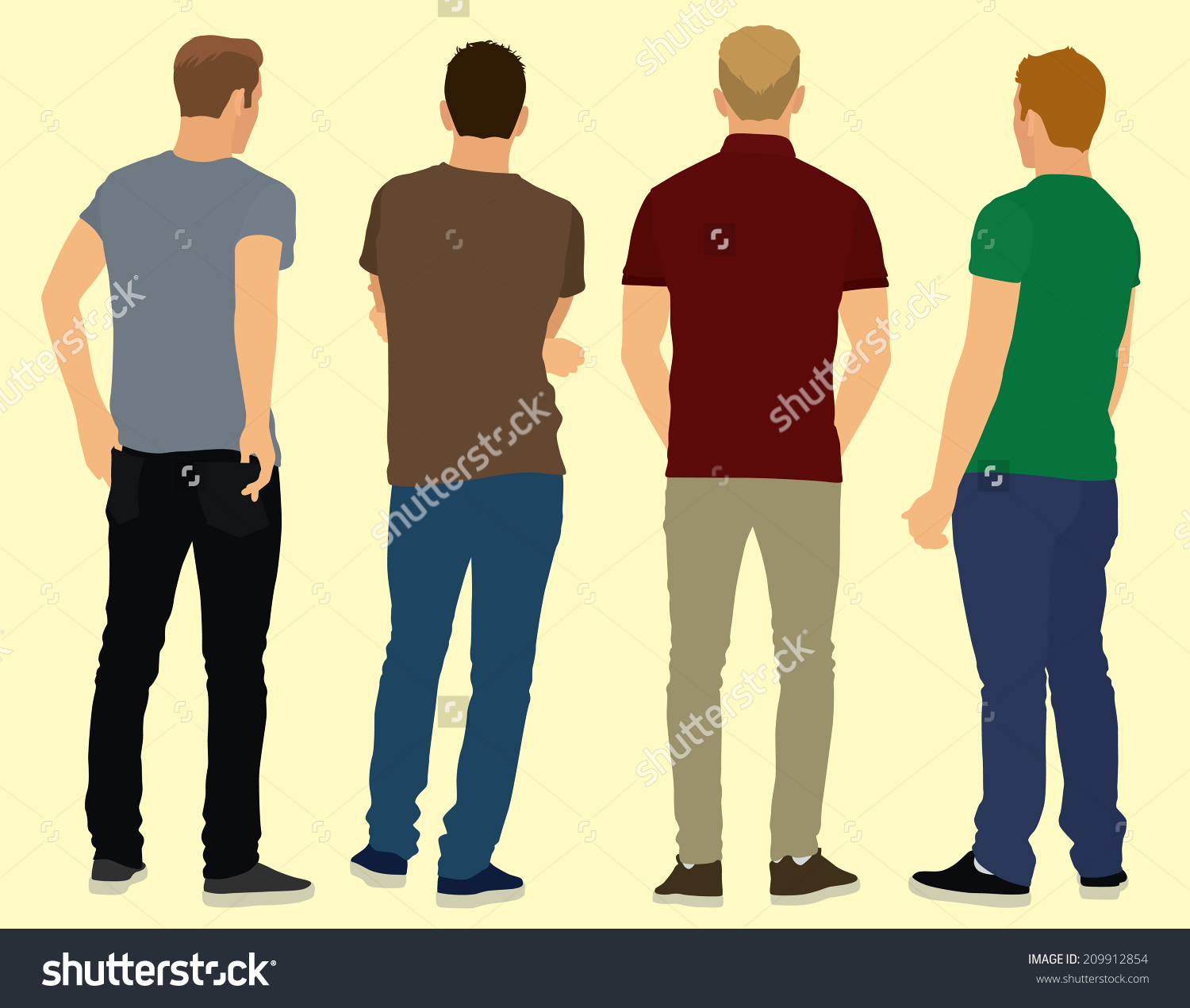 collection of boy. Back clipart person