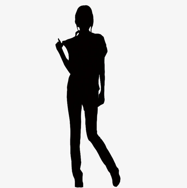 Back clipart person. Lonely black silhouette a