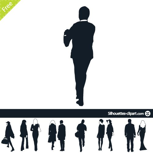 People view point vector. Back clipart person