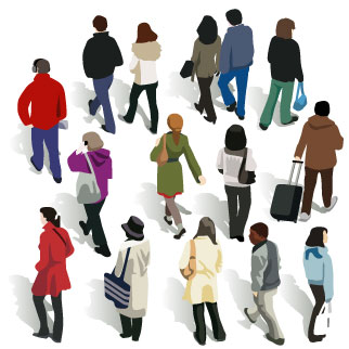 Back clipart person. Of people