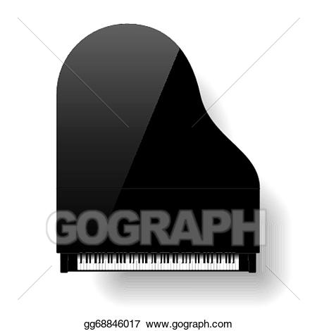 Eps illustration black grand. Back clipart piano